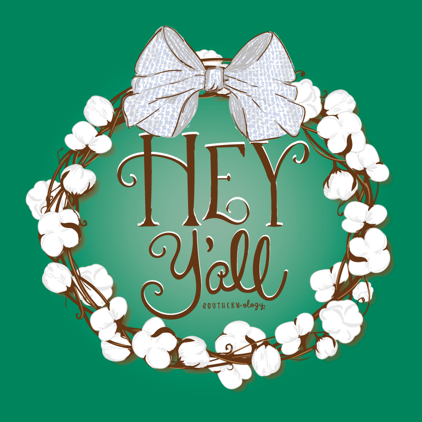 Southernology 174 Hey Y All Cotton Wreath Bundle