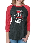 Let It Snow Raglan