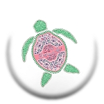 Livin' The Shore Life® Floral Turtle Pop Socket