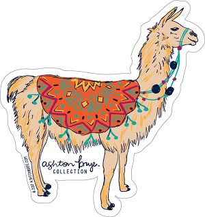 Happy Llama Decal