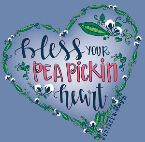 Southernology® Long Sleeve Pea Pickin Heart