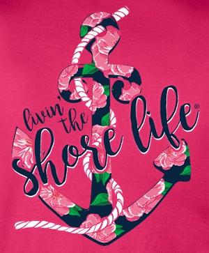 Livin' The Shore Life™ Floral Anchor