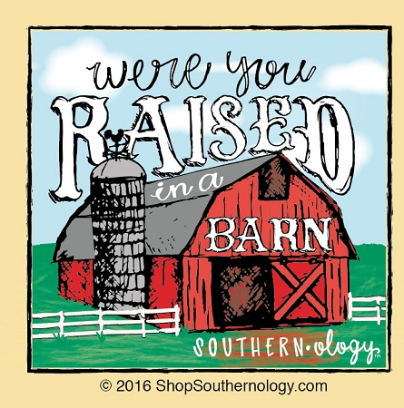 raised in a barn southernology comraised in a barn t shirt tap to expand