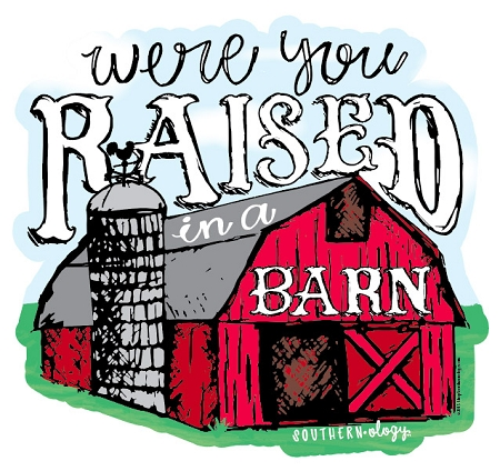 southernology® raised in a barn decalsouthernology® raised in a barn decal tap to expand