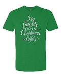 My Favorite Color is Christmas Lights Statement Tee