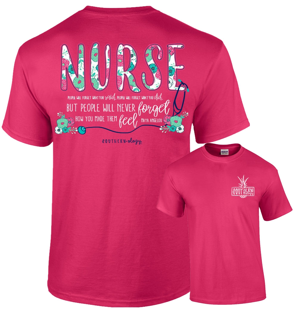 f797de003 Southernology® Floral Nurse T Shirt | shopsouthernology.com