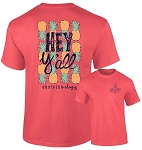 Southernology® Coral Hey Y'all Pineapple T Shirt Bundle
