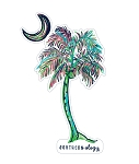 Southernology® Painted Palm Tree Decal