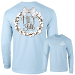 Southernology® Hey Y'all Cotton Wreath Chambray Long Sleeve