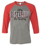 Southernology® I'll Be Home for Christmas Raglan - South Carolina PRE ORDER
