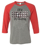 Southernology® I'll Be Home for Christmas Raglan - Georgia