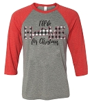 Southernology® I'll Be Home for Christmas Raglan - Kentucky