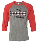Southernology® I'll Be Home for Christmas Raglan - North Carolina