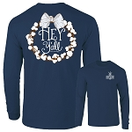 Southernology® Hey Y'all Cotton China Blue Long Sleeve