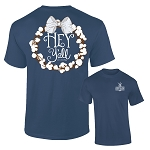Southernology® Hey Y'all Cotton China Blue Wreath T-Shirt