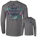 Southernology® Long Sleeve Charcoal Feathers Ruffled