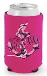 Livin' The Shore Life™ Floral Anchor Coozie