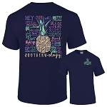 Southernology® Navy Pineapple Talk Southern to Me