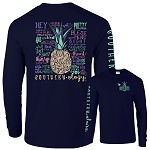 Southernology® Navy Pineapple Talk Southern to Me Long Sleeve