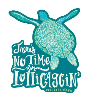 Southernology® Lolligaggin' Turtle Decal