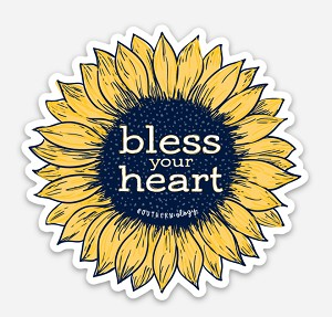 Southernology®Bless Your Heart Flower Decal