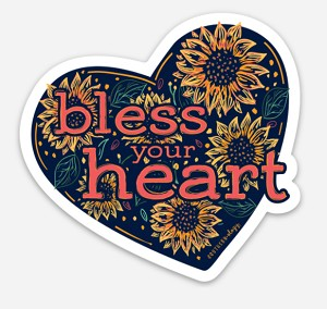 Southernology® Sunflower Bless Your Heart Decal