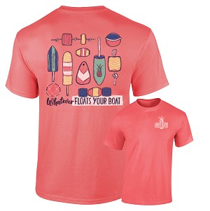 Southernology® Floats Your Boat Coral Buoys T-shirt
